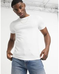 River Island T-shirt attillata bianca - Bianco
