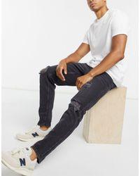 ASOS – Schmale Jeans aus festem Stoff - Mehrfarbig
