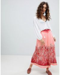 Free People Off The Grid Grapic Print Culottes - Red