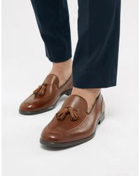 H by Hudson - Aylsham Leather Loafers In Tan - Lyst