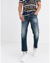 Love Moschino Cropped Slim Jeans - Blue