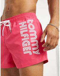 Tommy Hilfiger Короткие Розовые Шорты Для Плавания -розовый