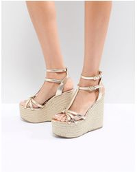 Miss Kg Rope Super Stacked Wedge - Metallic