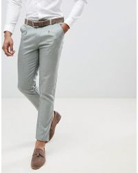 Boohoo - Slim Fit Suit Pants In Gray - Lyst