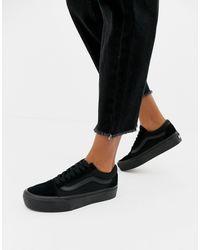 Vans Old Skool Canvas Sneakers - Black