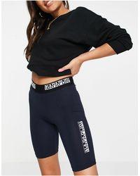 Napapijri Short legging à logo encadré - marine - Multicolore