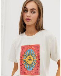 Daisy Street T-shirt décontracté à imprimé tarot - Multicolore