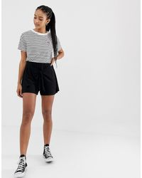 ASOS Short With Tie Front - Black