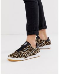 adidas Originals Continental 80s Trainers Leopard Print Pony Skin