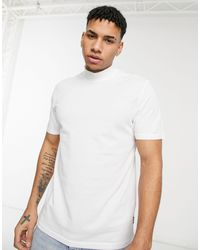 Only & Sons T-shirt With High Neck - White