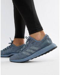 adidas Серые Кроссовки Running Pureboost Cm8303 - Синий