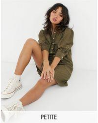 Vero Moda Кружевное Платье-рубашка Мини Цвета Хаки -зеленый Цвет