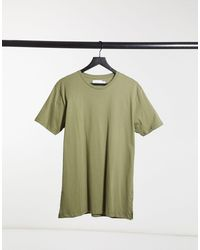 TOPMAN - T-shirt lunga verde - Lyst