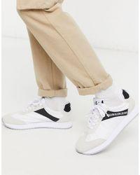 Calvin Klein Белые Кроссовки С Черной Отделкой Jerrod-белый