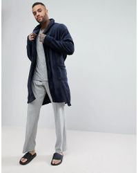 New Look - Dressing Gown In Navy - Lyst