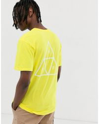 Huf - Essentials Triple Triangle T-shirt In Yellow - Lyst