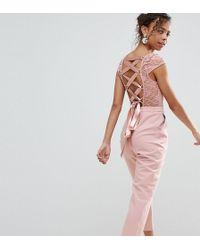 ASOS - Lace Top Jumpsuit With Lattice Back - Lyst