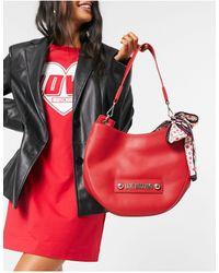 Love Moschino Красная Закругленная Сумка На Плечо С Платком -красный