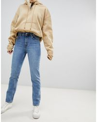 Weekday Seattle Organic Cotton High Waist Mom Jeans - Blue