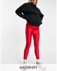 Flounce London Leggings deportivos s con diseño moldeador en la parte trasera - Rojo