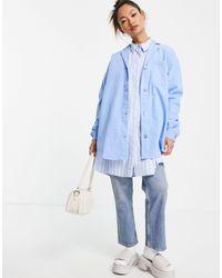WÅVEN - Oversized Denim Pj Style Shirt - Lyst
