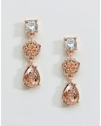 Coast - Floral Rose Gold Earrings - Lyst