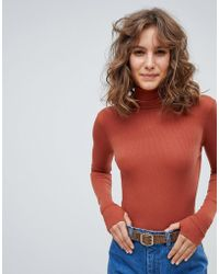 Free People - The Classic Girl Long Sleeve Bodysuit - Lyst