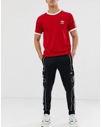 Flamestrike Sweatpants With Floating 3 Stripes In Black