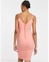 Vesper - Bodycon Strappy Midi Dress - Lyst