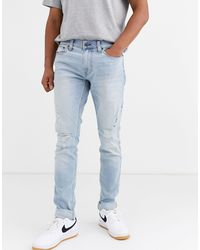 Hollister Distressed Skinny Jeans - Blue