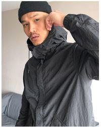 Pull&Bear Lightweight Parka Jacket - Black