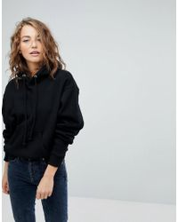 Weekday - Hooded Sweatshirt In Organic Cotton - Lyst