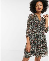 ONLY Abstract Animal Print Smock Dress - Multicolor