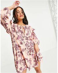 Free People - Sunbaked Floral Swing Mini Dress - Lyst