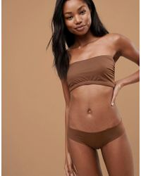 178c9f6d7a Nubian Skin - Naked Collection Nude Bandeau Bra In Dark - Lyst