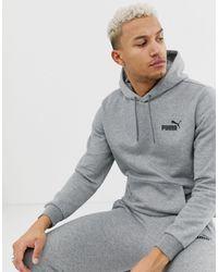PUMA Худи Серого Цвета С Логотипом Essentials-серый
