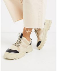 Monki Chunky Sole Mesh Trainers - Natural