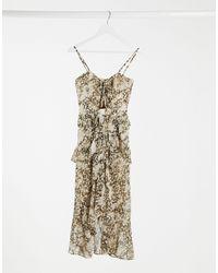 Bardot Платье Миди С Запахом И Звериным Принтом -мульти - Металлик