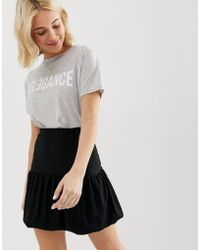 ASOS Bubble Mini Skirt In Texture - Black