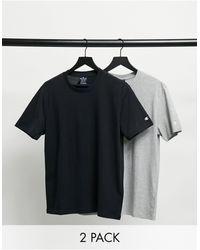 Champion Комплект Из 2 Футболок Черного И Серого Цвета С Небольшим Логотипом -серый - Многоцветный