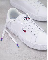 Tommy Hilfiger Белые Кроссовки На Плоской Подошве С Логотипом -белый