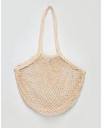 Bershka - Net Carry Bag In Cream - Lyst