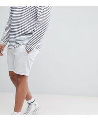 ASOS - Plus Slim Chino Shorts In Ice Grey - Lyst