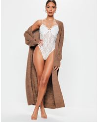 Missguided Belted Maxi Cardigan - Brown