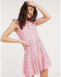 Stradivarius Sleeveless Shirt Dress - Pink