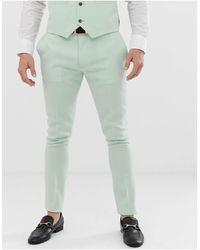 ASOS Wedding Super Skinny Suit Trouser - Green