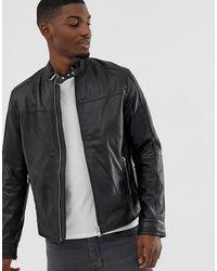 Barneys Originals Кожаная Куртка - Черный