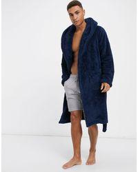 ASOS Fleece Badjas - Blauw