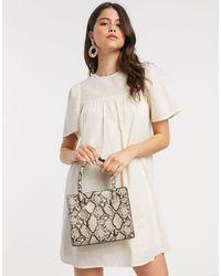 Vero Moda Свободное Платье Мини Кремового Цвета Aware-бежевый - Естественный