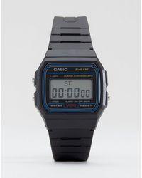 G-Shock Классические Цифровые Часы F-91w-1xy-черный Цвет - Многоцветный